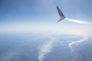 Flying over the East Coast